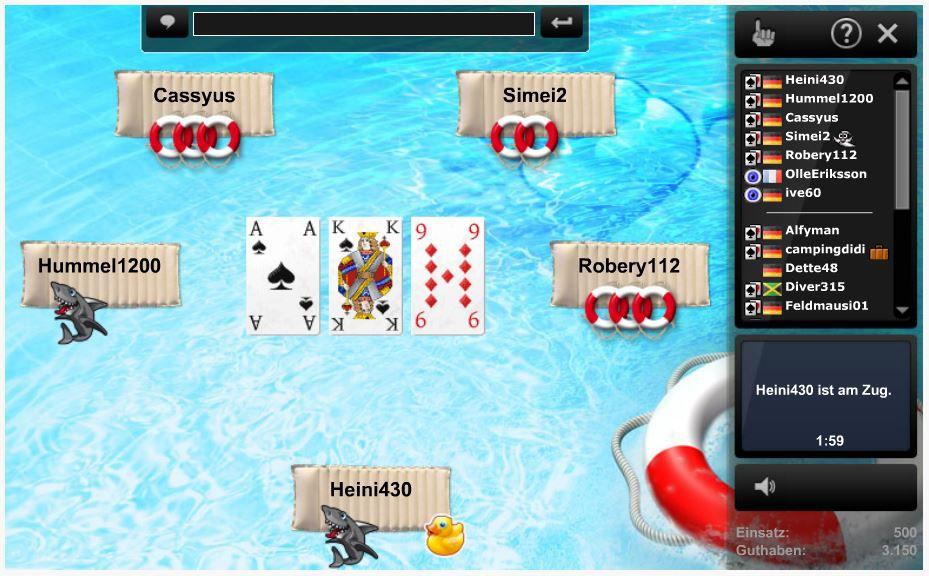 Schwimmen Kartenspiel Regeln