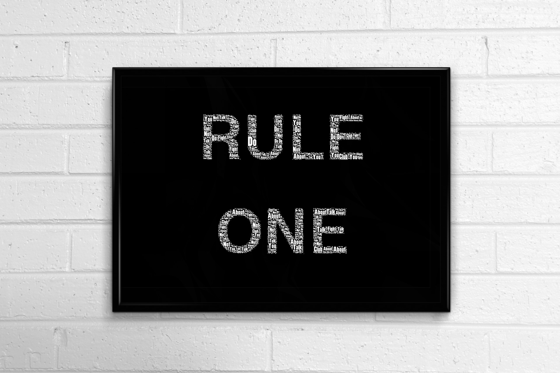 Fight-Club-Rule-One-Minimal-Horizontal-Framed-Art-Poster