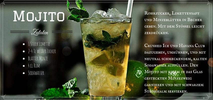 Cocktailrezept für einen Mojito