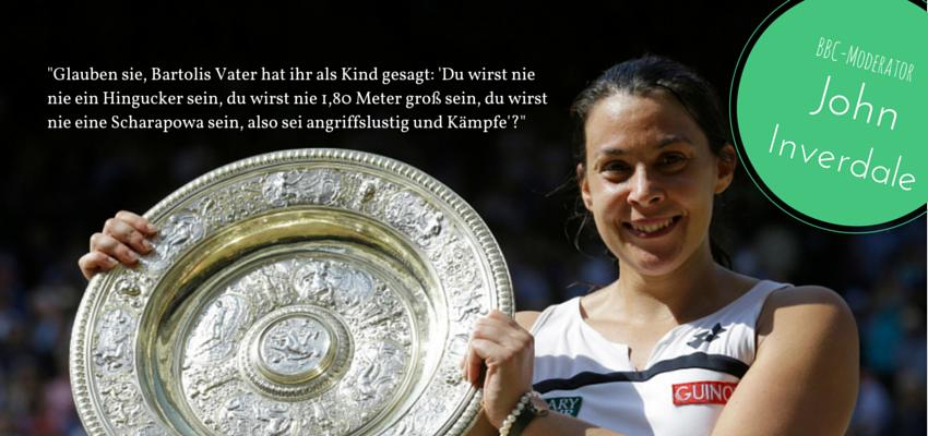 Kommentar von John Inverdale in Bezug auf das Aussehen von Marion Bartoli bei ihrem Wimbledon Sieg