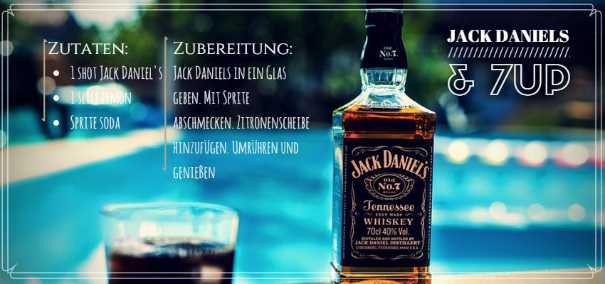 Cocktailrezept für einen jack & seven up