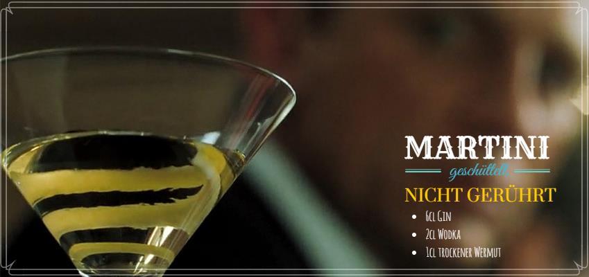 Cocktailrezept für einen Wodka Martini