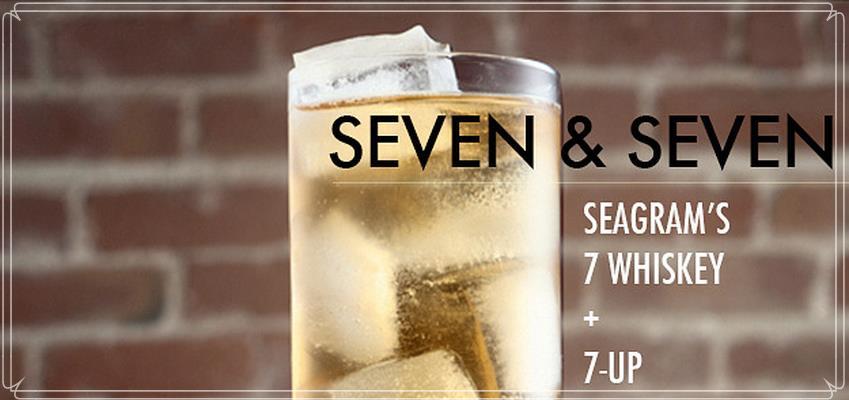 Cocktailrezept für einen seven seven
