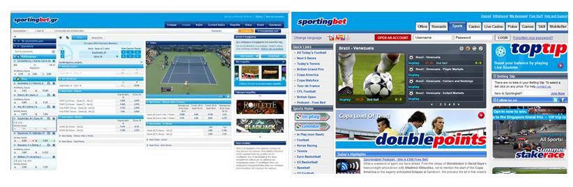 Live Stream des Wettanbieters Sporting Bet