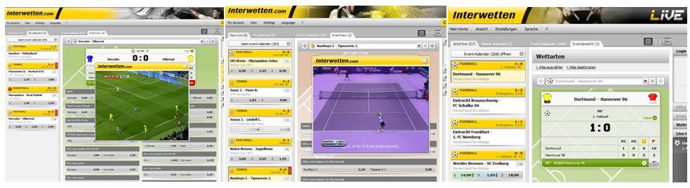 Live Stream des Wettanbieters Interwetten