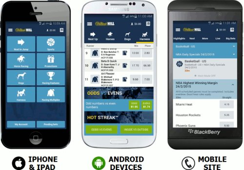 william hill promo code bet on smartphones