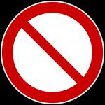 verboten Zeichen