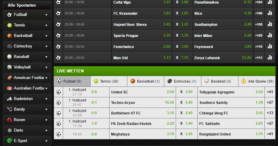 netbet-sportarten screenshot