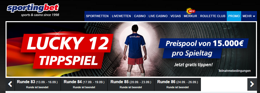 sportingbet-lucky-12-tippspiel screenshot