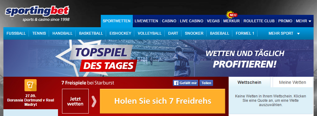 sportingbet-topspiel-des-tages screenshot