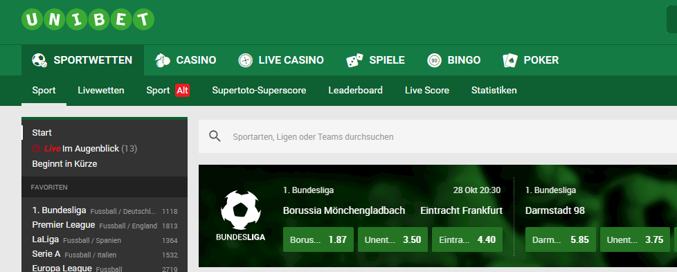 unibet-wettangebot screenshot