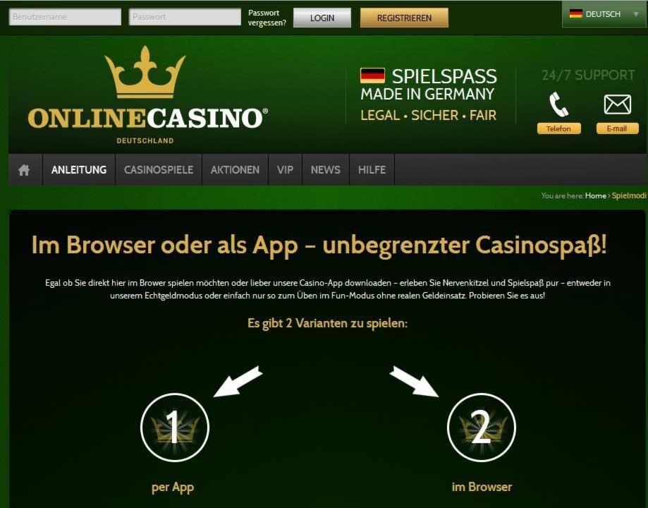 onlinecasino test