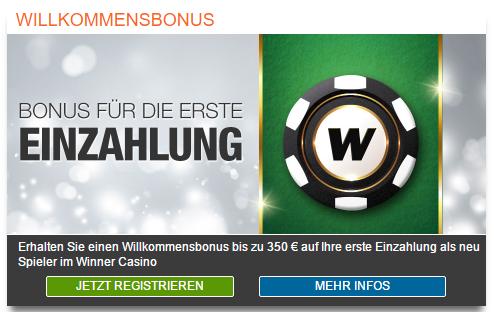 Winner Einzahlungsbonus screenshot