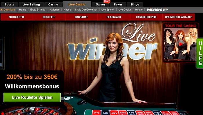 winner casino live casino bonus