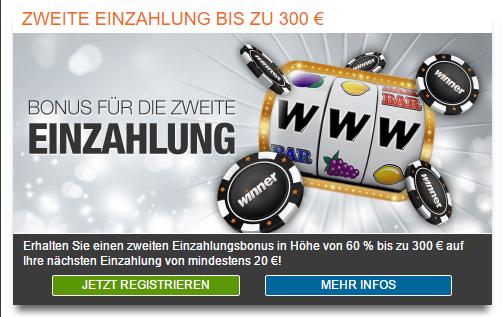 winner zweite einzahlung screenshot