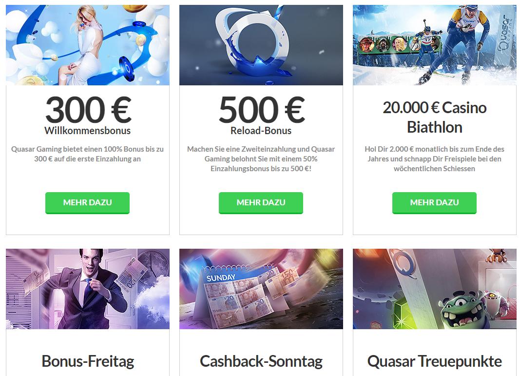 Quasar gaming andere promotionen