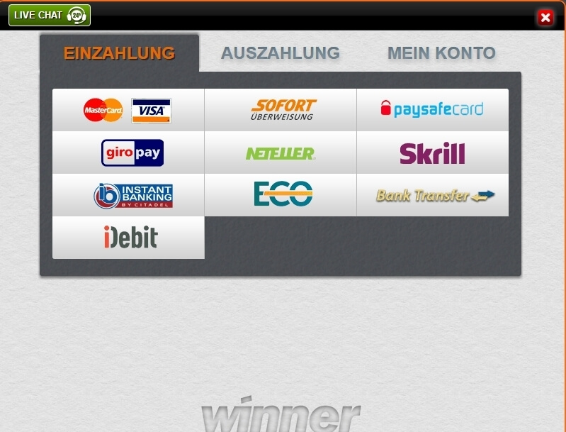 Winner_auszahlung screenshot