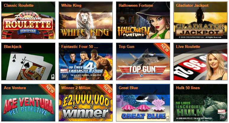 winner casino spieleangebot screenshot