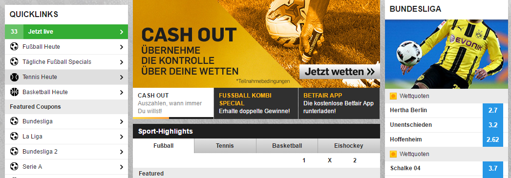 betfair wettangebot