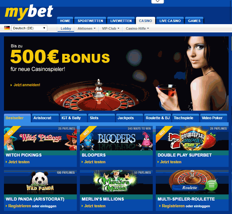 mybet-casino bonus