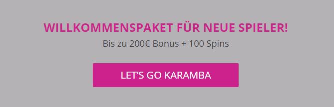 Willkommensangbot Karamba