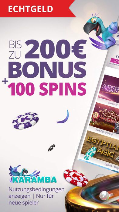 Willkommensbonus für mobile Nutzer Karamba Casino