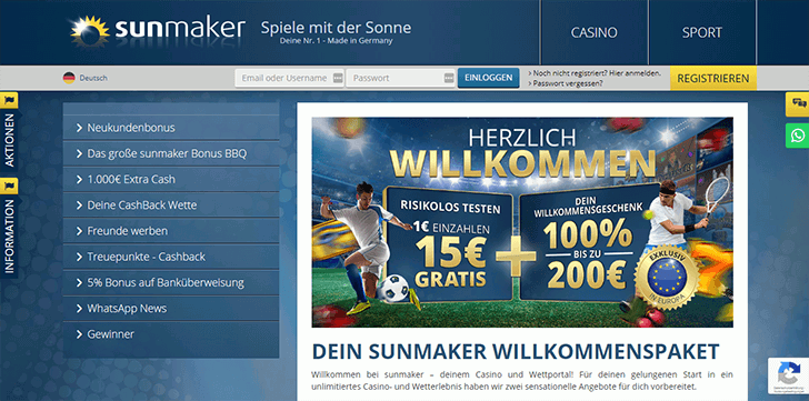 Sunmaker-Casino-Bonusangebot
