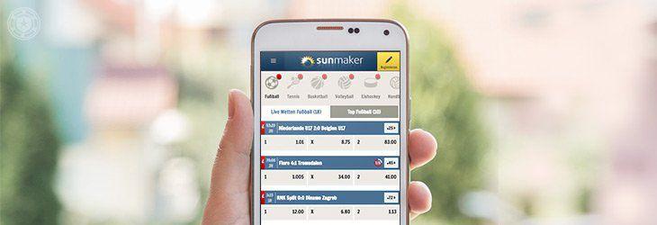 Mit der Sunmaker App auch von unterwegs spielen