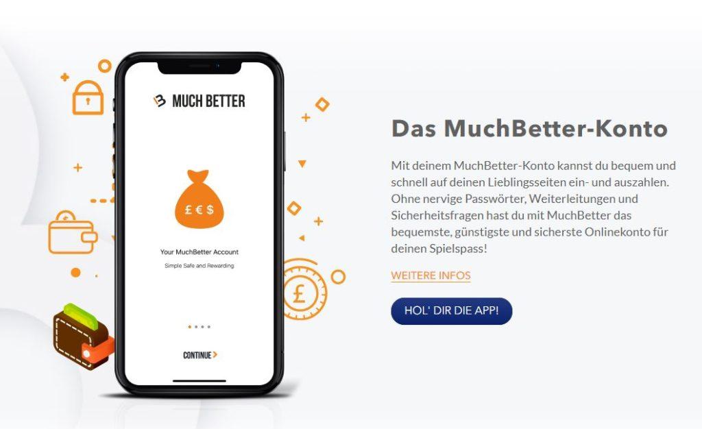 MuchBetter Webseite