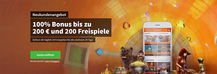 Betsson-Casino-Bonusangebot