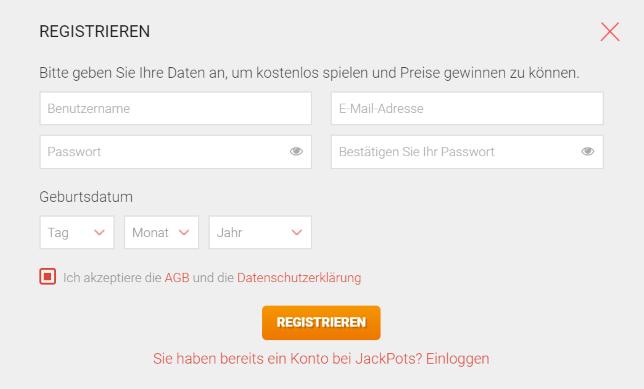 Jackpots.ch Einloggen
