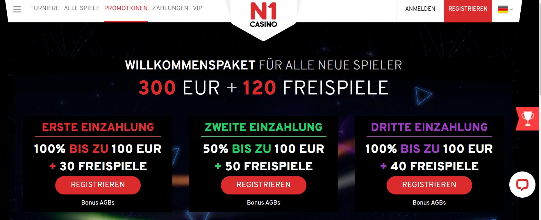 N1Casino Bonus Code