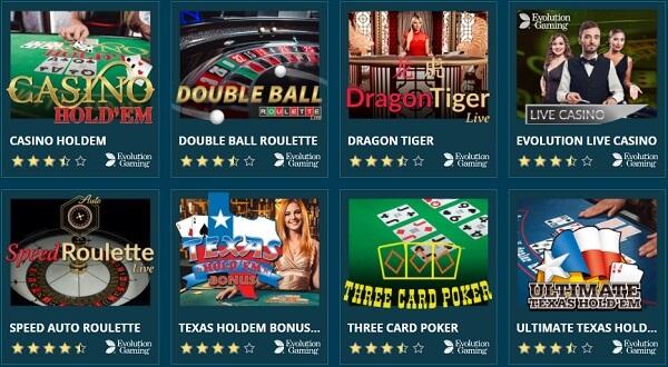 Platincasino Live Casino Angebot