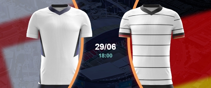 England vs Deutschland Achtelfinale EM