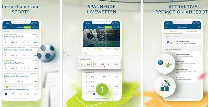 bet-at-home Sportwetten App